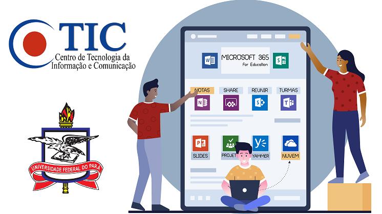 CTIC disponibiliza página com informações sobre o Microsoft 365 disponível na UFPA